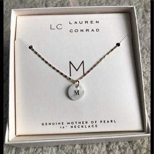 ❤️Lauren Conrad Monogram Initial M necklace New❤️